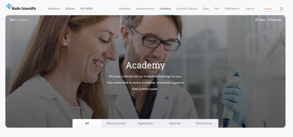 Biolin Scientific ademy