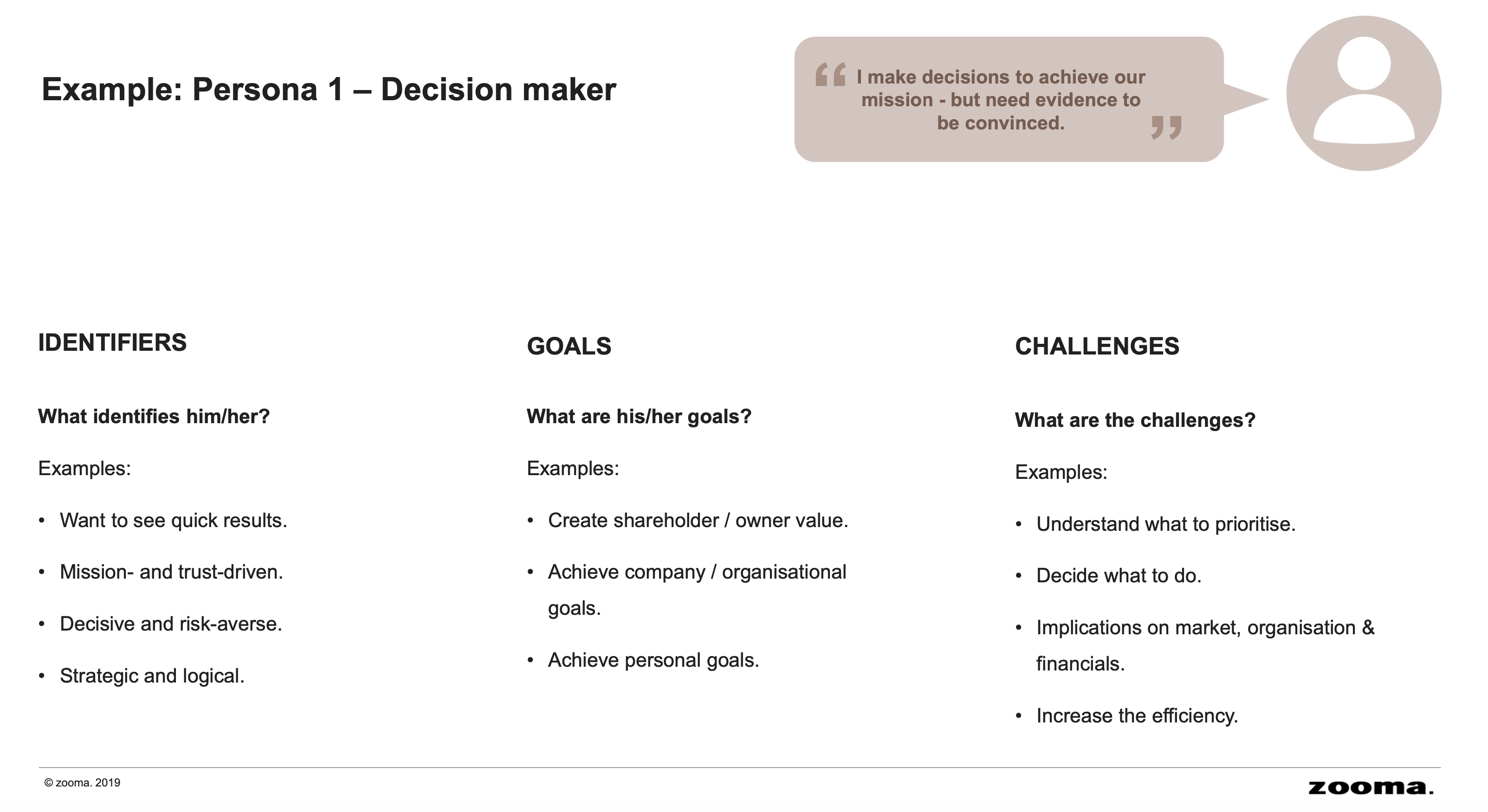 Buyer Persona Decision maker