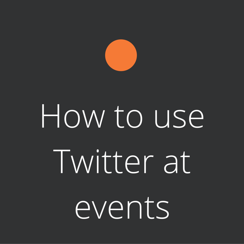 How to live-tweet at events