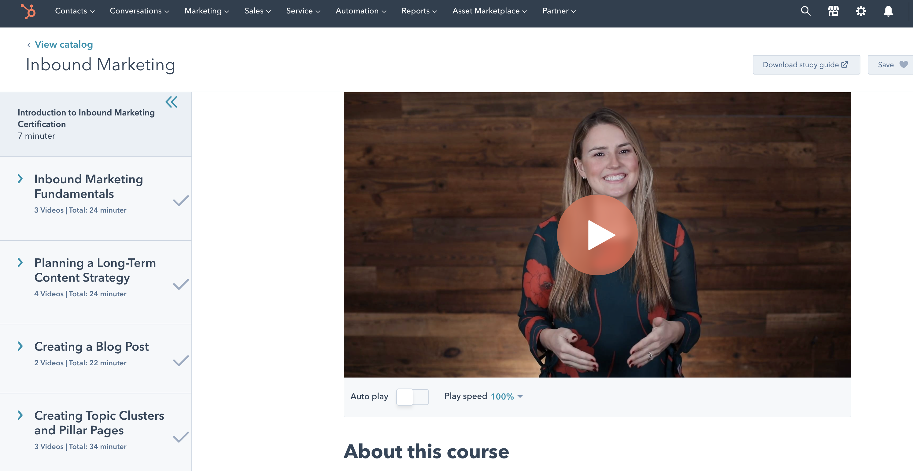 Inbound marketing course 092020
