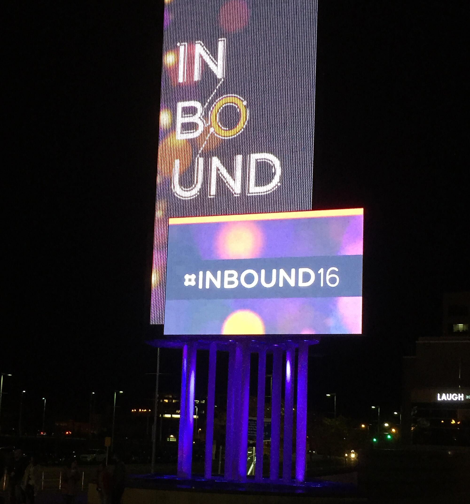Reflections and snapshots from #INBOUND2016