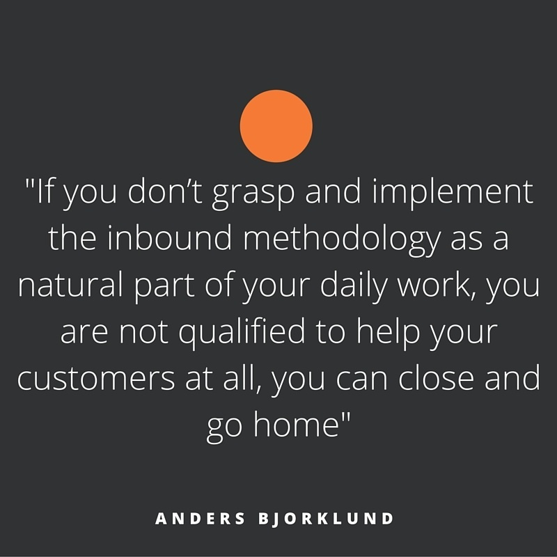 Quote of the week, by Anders Bjorklund