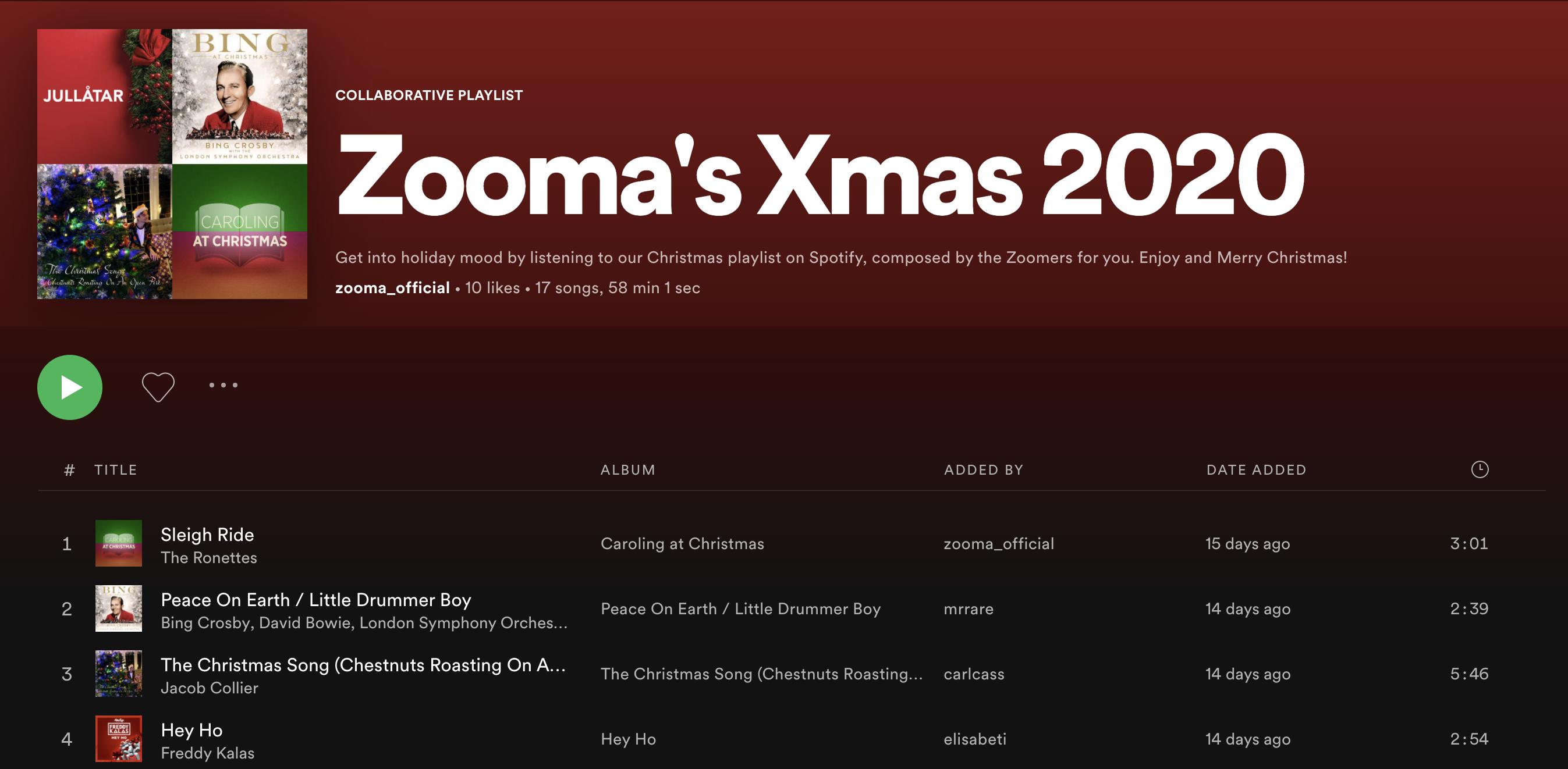 Zooma-Spotiify-xmas-playlist-2020