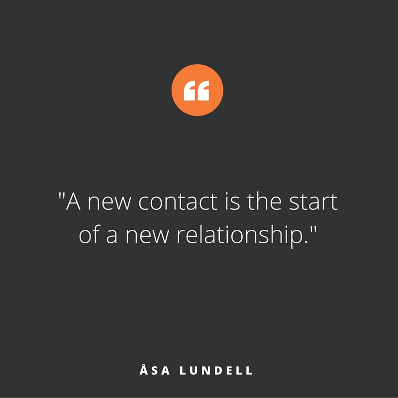 Quote of the week, by Åsa Lundell