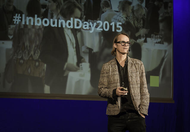 Anders Bjorklund welcoming audience to #inboundday2015