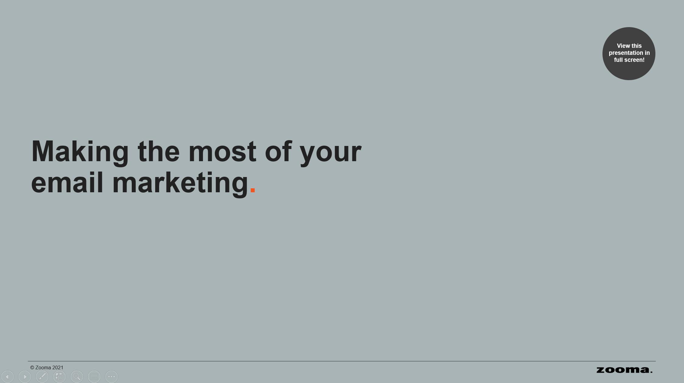 Email marketing tips title slide screenshot